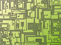 Circuit board background. Vector. Abstract vector illustration background depicting a circuit board Stock Illustration