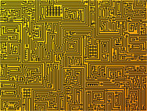 Circuit board background. Vector. Stock Photos