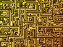 Circuit board background. Vector. Stock Photos