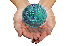 Circuit board ball Stock Photography