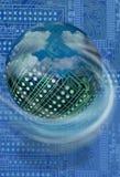 Circuit board ball Stock Photo