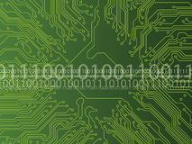 Circuit board and binary code Stock Images