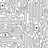 Circuit board black and white  background Stock Photos