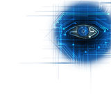 Circuit board- blue eye technology background Stock Images