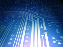 Circuit board blue royalty free stock photos