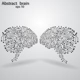 Circuit board brain eps 10. Vector illustration Royalty Free Stock Photo