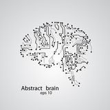 Circuit board brain eps 10. Vector illustration Royalty Free Stock Images