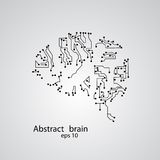 Circuit board brain eps 10. Vector illustration Stock Photography