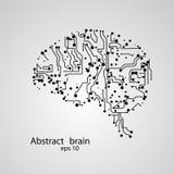 Circuit board brain eps 10. Vector illustration stock illustration