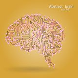 Circuit board brain eps 10 Royalty Free Stock Photography