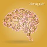 Circuit board brain eps 10. Vector illustration Royalty Free Stock Photography