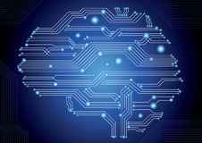 Circuit board brain Stock Photography
