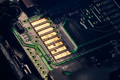 Circuit board of a camera stock photos