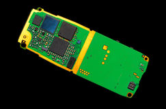 Circuit board of a cell phone Royalty Free Stock Image