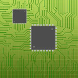 Circuit board with chips Stock Images