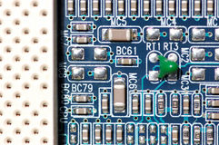 Circuit board close Stock Images