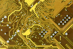 Circuit board close-up Stock Photography