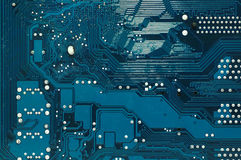 Circuit board close up Royalty Free Stock Photo