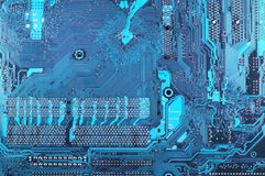 Circuit board close-up Royalty Free Stock Images