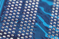 Circuit board close-up Royalty Free Stock Image