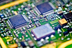 Circuit board close up Royalty Free Stock Image