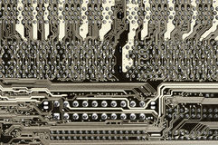 Circuit board close-up Stock Images