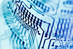 Circuit board close up. Stock Photography