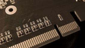 Circuit board close up Royalty Free Stock Images