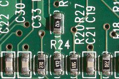 Circuit Board, close up Royalty Free Stock Photography