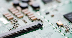 Circuit Board (close-up shot) Stock Image