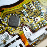 Circuit board closeup Royalty Free Stock Photography