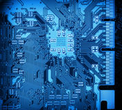 Circuit board closeup background Royalty Free Stock Photos
