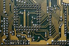 Circuit board. Closeup of circuit board series royalty free stock images