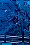Circuit board in cold blue Royalty Free Stock Photo