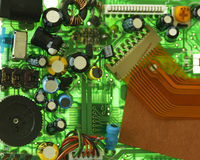 Circuit Board Components Stock Photography