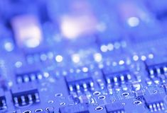 Circuit board with components Stock Image