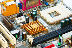 Circuit Board of the computer. Stock Photo