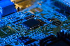 Circuit board of computer Royalty Free Stock Photo