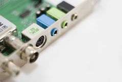 Circuit board with connectors Stock Photo