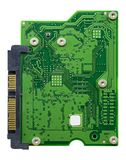 Circuit board with connectors. On a white background with path included stock photos