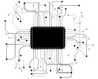 Circuit board cpu,  Royalty Free Stock Photos