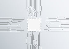 Circuit board cpu Royalty Free Stock Photos