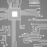 Circuit board cpu. Vector illustration Royalty Free Stock Images