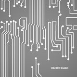 Circuit board cpu. Vector illustration Stock Images