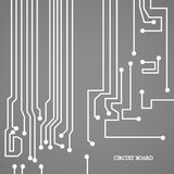 Circuit board cpu. Vector illustration Royalty Free Stock Photography