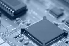 Circuit board detail Royalty Free Stock Photos