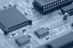 Circuit board detail Royalty Free Stock Photography