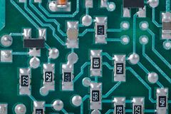 Circuit Board Detail Royalty Free Stock Images