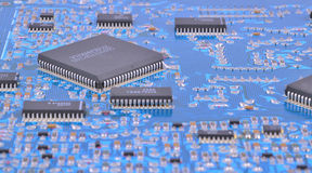 Circuit board of device Royalty Free Stock Images