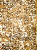 Circuit board diagram. Stock Images